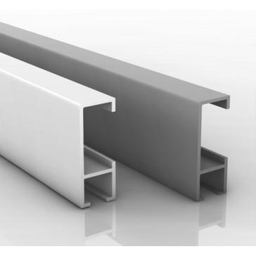 Schiene 2 Meter silber oder weiß